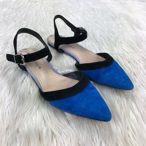 Via Spiga Colorblock Pointed Toe Flats